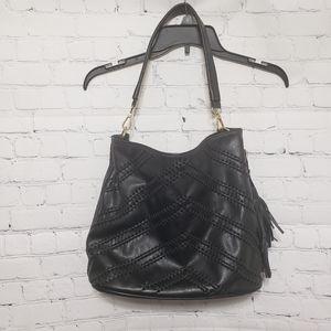 Big Buddah Large Black Shoulder Bag